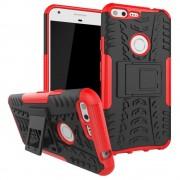 Til Google Pixel XL rød bagcover hybrid Mobiltelefon tilbehør
