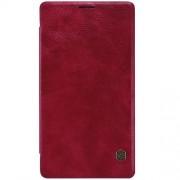 MICROSOFT LUMIA 950 XL læder cover i business stil, rød Mobiltelefon tilbehør