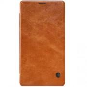 MICROSOFT LUMIA 950 XL læder cover i business stil, brun Mobiltelefon tilbehør