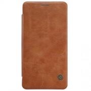 MICROSOFT LUMIA 950 læder cover i business stil, brun Mobiltelefon tilbehør