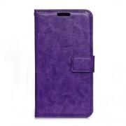 MICROSOFT LUMIA 650 læder cover med kort lommer, lilla Mobiltelefon tilbehør