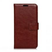 MICROSOFT LUMIA 650 læder cover med kort lommer, brun Mobiltelefon tilbehør