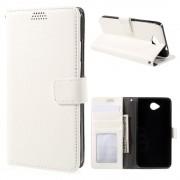MICROSOFT LUMIA 650 læder pung cover, hvid Mobiltelefon tilbehør