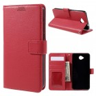 MICROSOFT LUMIA 650 læder pung cover, rød Mobiltelefon tilbehør