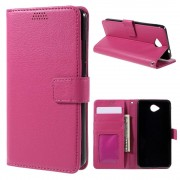 MICROSOFT LUMIA 650 læder pung cover, rosa Mobiltelefon tilbehør