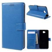 MICROSOFT LUMIA 650 læder pung cover, blå Mobiltelefon tilbehør
