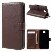 MICROSOFT LUMIA 650 læder pung cover, brun Mobiltelefon tilbehør