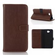 MICROSOFT LUMIA 650 læder cover i retro stil, moccabrun Mobiltelefon tilbehør