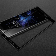 Heldækkende panserglas sort Sony XZ2 compact Mobil tilbehør
