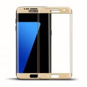 SAMSUNG GALAXY S7 EDGE fuld skærm hærdet beskyttelsesfilm guld, Mobiltelefon tilbehør