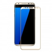 Samsung Galaxy S8 Plus fuld dækkende beskyttelsesglas guld, Galaxy S8 plus tilbehør