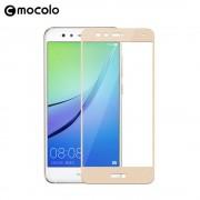 Huawei P10 lite fuld dækkende skærm beskyttelseglas guld Mobiltilbehør