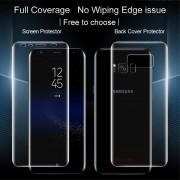 2 i 1 Samsung Galaxy S8 beskyttelsesfilm komplet for og bagside Mobiltilbehør