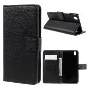 ONEPLUS X læder cover med kort lommer, sort Mobiltelefon tilbehør