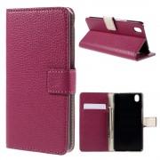 ONEPLUS X læder cover med kort lommer, rosa Mobiltelefon tilbehør