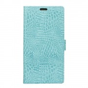 Flipcover croco med lommer cyan Oneplus 5T Mobilcovers