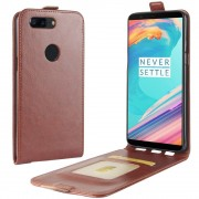 Oneplus 5T vertikal cover brun Mobilcovers