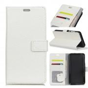 Oneplus 5T cover i læder med lommer hvid Mobilcovers