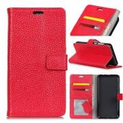 Oneplus 5T cover i læder med lommer rød Mobilcovers