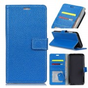 Oneplus 5T cover i læder med lommer blå Mobilcovers