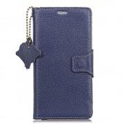 Premium læder cover blå Oneplus 5T Mobil tilbehør