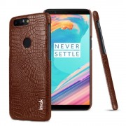 Oneplus 5T brun cover case croco Mobil tilbehør