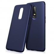 Twill slim cover blå Oneplus 6 Mobil tilbehør