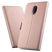 rosaguld Slim flip cover Oneplus 6T Mobil tilbehør