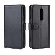 sort Flip cover ægte læder Oneplus 7 Pro Oneplus tilbehør