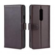 brun Flip cover ægte læder Oneplus 7 Pro Oneplus tilbehør