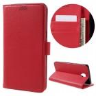 til Oneplus 3/3T rød etui p-line med kort lommer Mobiltelefon tilbehør