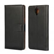 Oneplus 3T / 3 cover i split læder med lommer sort Mobiltelefon tilbehør