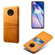 brun DC case med kort lommer Oneplus 7T Mobil tilbehør