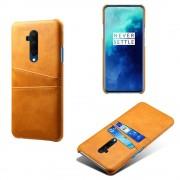 brun DC case med lommer OnePlus 7T pro Mobil tilbehør
