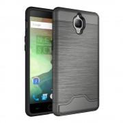 Oneplus 3 cover hybrid med kredit kort lomme grå Mobiltelefon tilbehør