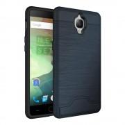 Oneplus 3 cover hybrid med kredit kort lomme blå Mobiltelefon tilbehør