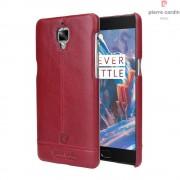 Til Oneplus 3 - 3T rød cover Pierre Cardin design læder Mobiltelefon tilbehør
