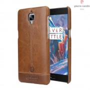 Oneplus 3 - 3T brun cover Pierre Cardin design læder Leveso.dk Mobiltelefon tilbehør