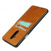 brun Combi case m lommer OnePlus 7T Pro Mobil tilbehør