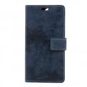 Oneplus 5 mørkeblå flip cover i retro stil Mobilcovers