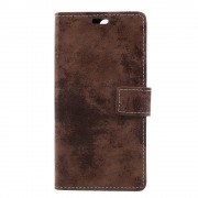 til Oneplus 5 flip cover i retro stil brun Mobilcovers