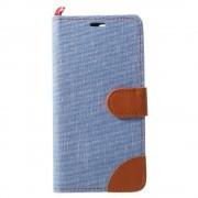 JC-style Oneplus 5 flip cover med lommer lyseblå Mobilcover