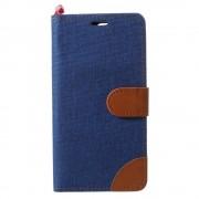 JC-style Oneplus 5 mørkeblå flip cover med lommer Mobilcover