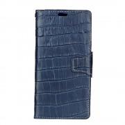 Oneplus 5 croco klassisk cover i ægte læder mørkeblå Mobilcovers