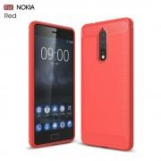 Nokia 8 C-style armor cover rød Mobilcovers