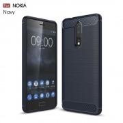 til Nokia 8 C-style armor cover blå Mobilcovers