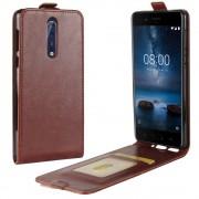Nokia 8 vertikal cover med lomme brun Mobilcovers