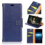 Premium læder cover blå Nokia 8 Mobil tilbehør