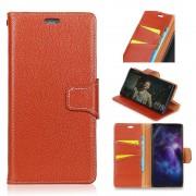 Premium læder cover orange Nokia 8 Mobil tilbehør