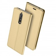 Nokia 8 slim cover med lomme guld Mobilcovers